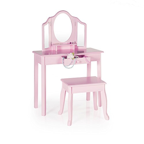 Kids Furniture Guidecraft Girls Wood Vanity Table And