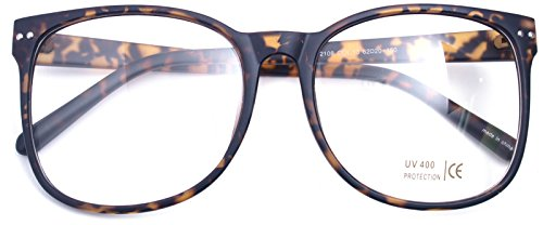 7dd58e3788 ... Glasses Clear Lens Oval Frame Non Prescription Matt Leopard 21084.  Double reinforced frame and durable metal hinges will ensure you a long  time wearing ...