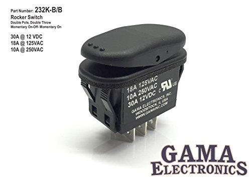 GAMA Electronics Waterproof 30 Amp Double Pole 3 Position